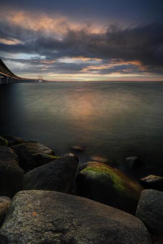f-83772-Solnedgång i Öresundsbron